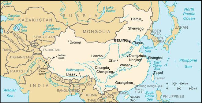 Xi Jiang River Map
